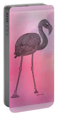 Flamingo5 Portable Battery Charger by Megan Dirsa-DuBois