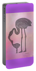 Flamingo6 Portable Battery Charger by Megan Dirsa-DuBois