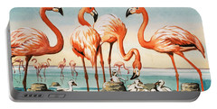 Flamingoes Portable Battery Charger