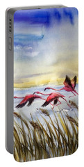 Flamingoes Flight Portable Battery Charger