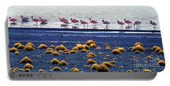 Flamingos At Torres Del Paine Portable Battery Charger