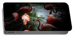 Portable Battery Charger featuring the photograph Flamingos by Eric Christopher Jackson