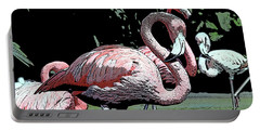 Portable Battery Charger featuring the photograph Flamingos I by Jim and Emily Bush