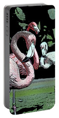 Portable Battery Charger featuring the photograph Flamingos II by Jim and Emily Bush