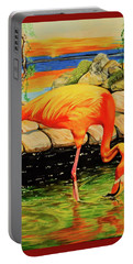 Flamingo's Paradise Portable Battery Charger