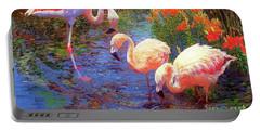 Flamingos, Tangerine Dream Portable Battery Charger