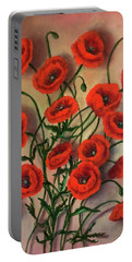 Flander Poppies Portable Battery Charger