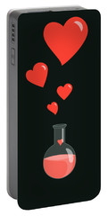 Flask Of Hearts Portable Battery Charger