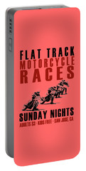 Flat Track Motorcycle Races Portable Battery Charger