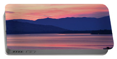 Flathead Lake At Sunrise Portable Battery Charger