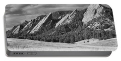 Flatiron Morning Light Boulder Colorado Bw Portable Battery Charger