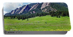 Flatirons Of Boulder, Colorado Portable Battery Charger