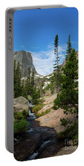 Flattop Mountain In Rocky Mountain National Park Portable Battery Charger
