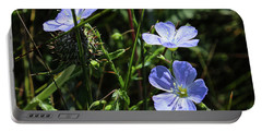 Portable Battery Charger featuring the photograph Flax by Ann E Robson