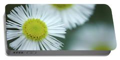 Fleabane Flowers Portable Battery Charger