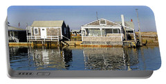 Fletchers Camp And The Little House Sandy Neck Portable Battery Charger