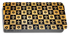Fleur De Lis Floor Portable Battery Charger