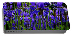 Fleur De Lys Portable Battery Charger by Elfriede Fulda