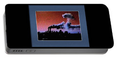 Flight 175 Mushroom Cloud Framed Example Portable Battery Charger