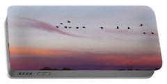 Flight At Dusk At The Bosque Portable Battery Charger