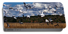 Portable Battery Charger featuring the photograph Flight by Karen Zuk Rosenblatt