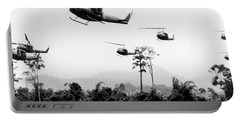 Flight Of Uh-1 Troopships Portable Battery Charger