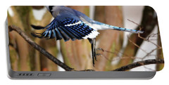 Flight Of The Blue Jay Portable Battery Charger