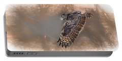 Flight Of The Eagle Owl Portable Battery Charger