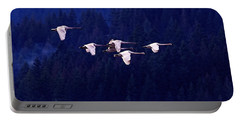 Flight Of The Swans Portable Battery Charger by Sharon Talson