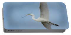 Portable Battery Charger featuring the photograph Flight Path by Fraida Gutovich