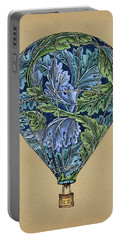 Portable Battery Charger featuring the painting Flight Pattern by Meg Shearer