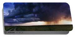 Flint Hills Storm Panorama  Portable Battery Charger