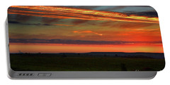 Flint Hills Sunrise Portable Battery Charger by Thomas Bomstad