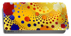 Portable Battery Charger featuring the digital art Flint Stones by Fran Riley