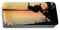 Flips At Sunset Portable Battery Charger