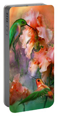 Portable Battery Charger featuring the mixed media Flirting So Sweetly by Carol Cavalaris