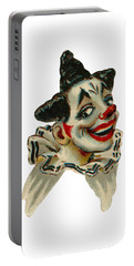 Portable Battery Charger featuring the digital art Flirty by ReInVintaged