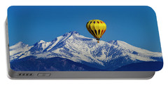 Floating Above The Mountains Portable Battery Charger by Teri Virbickis