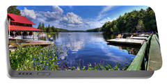Portable Battery Charger featuring the photograph Floating Bridge At Covewood by David Patterson