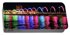 Portable Battery Charger featuring the photograph Floating Bridge, Willemstad, Curacao by Kurt Van Wagner