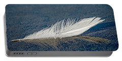 Floating Feather Reflection Portable Battery Charger
