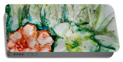 Floating Flowers 3 Portable Battery Charger by Laurie Morgan