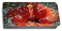 Floating Hibiscus Portable Battery Charger