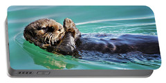 Floating Sea Otter Portable Battery Charger