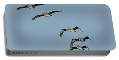Flock Of 5 Pelicans  Portable Battery Charger
