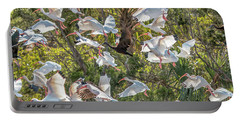 Flock Of Mixed Birds Taking Off Portable Battery Charger