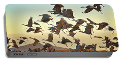 Liftoff, Sandhill Cranes Portable Battery Charger