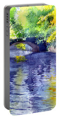 Portable Battery Charger featuring the painting Floods by Anil Nene