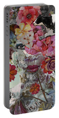 Portable Battery Charger featuring the digital art Flora And Fauna by Nola Lee Kelsey