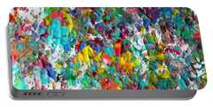 Floral Abstract 0715 Portable Battery Charger